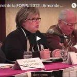 Sommet de la FQPPU 2012 : Armande Saint Jean (1)