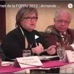 Sommet de la FQPPU 2012 : Armande Saint-Jean (2)