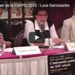 Sommet de la FQPPU 2012 : Luce Samoisette