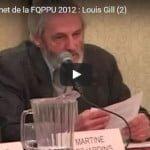 Sommet de la FQPPU 2012 : Louis Gill (2)