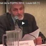 Sommet de la FQPPU 2012 : Louis Gill (1)