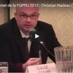 Sommet de la FQPPU 2012 : Christian Nadeau (2)