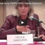 Sommet de la FQPPU 2012 : Cécile Sabourin