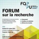 Forum sur la recherche 2015